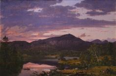 Frederic Edwin Church, Lake Scene in Mount Desert, 1851, oil on canvas, 20 11/16 x 30 7/8 inches (52.5 x 78.4 cm)