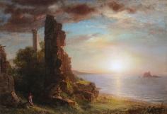 Frederic Edwin Church, Syrian Landscape, 1873, oil on panel, 15 1/2 x 22 1/2 inches (39.4 x 57.2 cm)