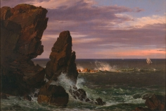 Frederic Edwin Church, Coast Scene, Mount Desert, 1852, oil on canvas, 20 x 30 inches (50.8 x 76.2 cm)