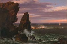 Frederic Edwin Church, Coast Scene, Mount Desert, 1852, oil on canvas, 20 x 30 inches (50.8 x 76.2 cm)