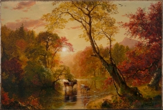 Frederic Edwin Church, Autumn in the Catskills, 1856, oil on canvas, 15 x 22 inches (38.1 x 55.9 cm)