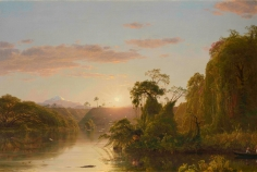 Frederic Edwin Church, Scene on the Magdalena, 1854, oil on canvas, 28 1/4 x 42 inches (71.8 x 106.7 cm)