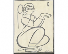 Jamini Roy Seated Woman