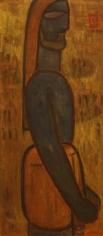Jamini Roy Blue Man standing in profile