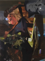 Night Gardening, 2009  Oil on canvas  90h x 66w in  LR2009009  Collection Germany