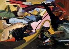 LES ROGERS  Gone at Ask, 2003  Oil on canvas  60h x 84w x 1 1/4d in  LR2003003  Collection Bo Bjerggard, Copenhagen