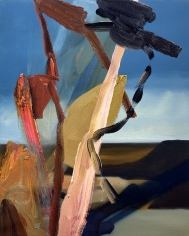 LES ROGERS  Distances Way, 2002  Oil on canvas  20h x 16w x 3/4d in