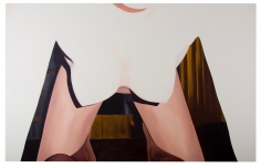 LES ROGERS  Folding Over You, 2010  Oil on canvas  84h x 132w x 1 1/4d in
