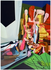 LES ROGERS  Brighten The Corners, 2008  Oil on canvas