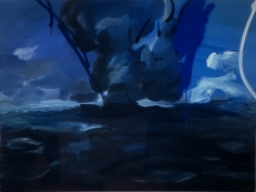 LES ROGERS  After Tomorrow, 2004  Oil on canvas  36h x 48w x 3/4d in