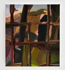 LES ROGERS  Outside, 2008  Oil on canvas  20h x 16w x 3/4d in