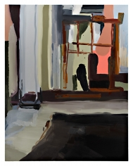 Barn Studio, 2007  Oil on canvas  84h x 66w x 1 1/4d in  LR2007004  Collection Josselin, Paris