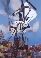 LES ROGERS  Man Cutting, 2004  Oil on canvas