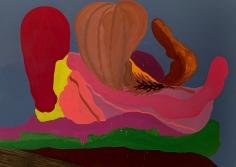 LES ROGERS  No Sleep, 2020  Oil on canvas  60h x 84w x 1 1/4d in