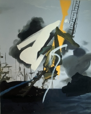 LES ROGERS  At Sea, 2003  Oil on canvas  36h x 29w x 3/4d in