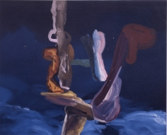 LES ROGERS  Blue Pile, 2004  Oil on canvas  24h x 36w x 3/4d in