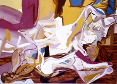 The Hammock, 2004  Oil on canvas  60h x 84w x 1 1/4d in  LR2004003  Collection Germany
