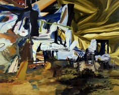 LES ROGERS  Following From Odds, 2002  Oil on canvas  96h x 120w x 1 1/4d in