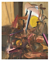 LES ROGERS  Post War Painting, 2007  Oil on canvas  60h x 48w x 1d in
