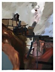 Let's Decide, 2008  Oil on canvas  24h x 18w x 3/4d in  LR2007013  Collection Masmonteil, Paris