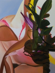 LES ROGERS  Flourish, 2010  Oil on canvas  48h x 36w x 1d in