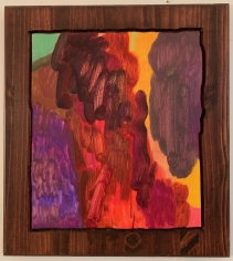 LES ROGERS  First Fall, 2015  Oil and Stain on Wood