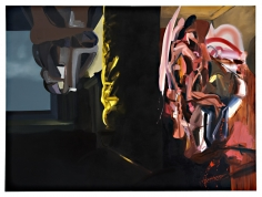 New York Movie, 2007  Oil on canvas  96h x 122w x 1 1/4d in  LR2007003  Collection Mille, Brussels