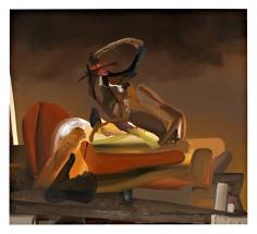 Bulkhead, 2007  Oil on canvas  60h x 48w x 1d in  LR2007002  Collection Gozla, Paris