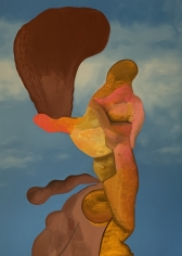 LES ROGERS  Distant, 2020  Oil on canvas  84h x 60w x 1 1/4d in