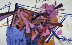 LES ROGERS  Amateurs, 2001  Oil on canvas  84h x 132w x 1 1/4d in