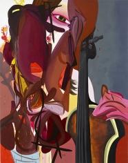 Secret Goldfish, 2006  Oil on canvas  84h x 66w x 1 1/4d in  LR2006005