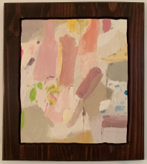 LES ROGERS  Small Builders, 2015  Oil and Stain on Wood