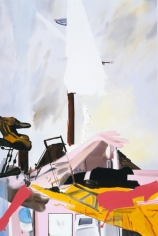 LES ROGERS  Striking, 2002  Oil on canvas  108h x 72w x 1 1/4d in Collection Elton John