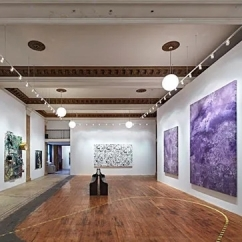 Installation image of First Show/Last Show curated by Vito Schnabel at 190 Bowery