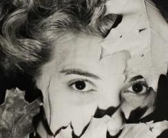 Erwin Blumenfeld - Leonor Fini (with Leaves), c. 1938 | Bruce Silverstein Gallery