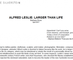 Alfred Leslie: Larger Than Life