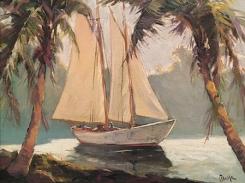 FREDERICK PAWLA (1876-1964), Sailboat, Santa Barbara, 1929