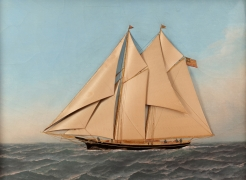 Eastern Yacht Club Schooner by T. Willis and Antonio Jacobsen