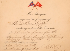 JP Morgan Invitation to Observe the 1903 America's Cup from Corsair