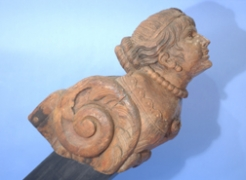 Figurehead of a Neo-Classical Woman with Necklace and Rosette