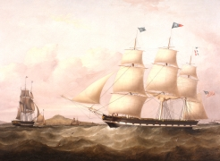 "The American Ship ""STAR"" of New York Coming into Liverpool by Samuel Walters"