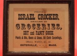Framed Broadside for Israel Crocker Store Osterville MA