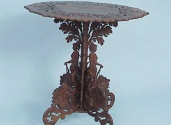 Sailor carved Table with Indians