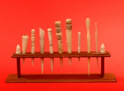 Collection of Nine Small Whale Bone Implements