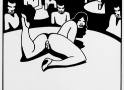 ken price illustration of stripper performing