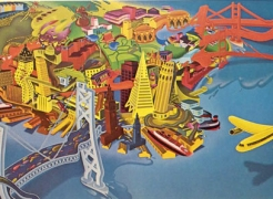 Peter Saul, View of San Francisco 1978-79