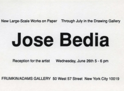 Jose Bedia: New Large Scale Works on Paper