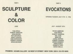 Sculpture & Color, Part II: Evocations
