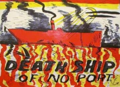 H.C. Westermann, 'Red Death Ship (Death Ship of No Port),' 1967