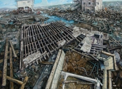 Amer Kobaslija: One Hundred Views of Kesennuma: Paintings of Japan's Altered Landscape
